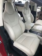 17 Tesla Model X 100d Oem Cream Leather Seats Front And Rear 3rd Row 15-19