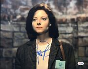 Jodie Foster Signed 'the Silence Of The Lambs' 11x14 Photo Clarice Starling Psa