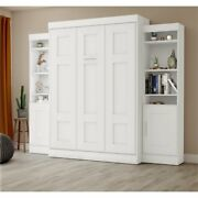 Bestar Edge Full Wall Bed With Storage In White