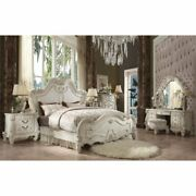 Acme Versailles Queen Panel Bed In Bone And White