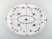 Early And Rare Royal Copenhagen Large Oval Dish In Museum Quality. Early 19th C.