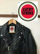 Lucky Strike Leather Motorcycle Jacket F/s