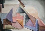 Raymond Trameau - Painting Original - Watercolour - Composition Abstract 18