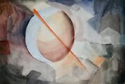 Raymond Trameau - Painting Original - Watercolour - Composition Abstract 7