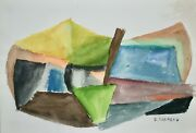 Raymond Trameau - Painting Original - Watercolour - Composition Abstract 11