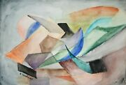 Raymond Trameau - Painting Original - Watercolour - Composition Abstract 14
