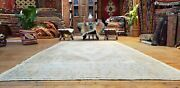 Beautiful Antique 1940and039s Muted Natural Dyewool Pile Oushak Area Rug 4and0399andtimes8and0399