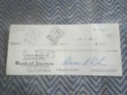 1962 Carroll Shelby Personal Check To Girlfriend Joan Shelby Early No Number Che