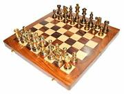 Collectible 100 Brass Vintage Chess Board Game Set 12 With Brass Pieces/coins.