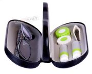 Contact Lens Case With Mirror Double Sided Travel Case 2 In 1 Hard Glasses Case