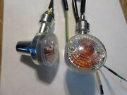Motorcycle Scooter Turn Signals Small Fits Ct70 6 Volt Or 12 Volt Fast Shipping