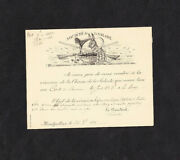 Hunting Salad Society Invitation To General Assembly Montpellier France 1886