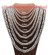 Turkish Handmade 925 Sterling Silver Luxury Mens King Chain Necklace Pendant