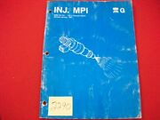 1987 Jeep/renault Multi-point Fuel Injection Mpi Systems Comp. Service Manual