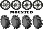 Kit 4 High Lifter Outlaw 3 Tires 35x9-20 On Sti Hd10 Machined Wheels Pol
