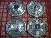 1967-1969 Plymouth Barracuda  Set Of Four 14 Oem Hubcaps Six Slot Type