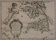 Antique Map Of Philippines Islands Dating From 1752, Superb And Rare