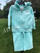 Nwt Juicy Couture 2pc Seafoam Terry Cloth Tracksuit Rare