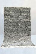 Moroccan Beni Ourain Rug - Speckled Black Berber Carpet Newly Made In Morocco