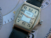 1950and039s Antique Universal Geneve Rectangular Watch Stainless Steel Cal 264