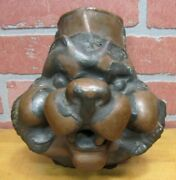 Old 'my Toy Wolf' Industrial Metal Figural Animals Head Toy Making Mold