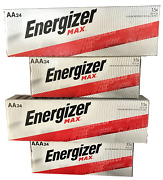 Energizer Alkaline Aa And Aaa Combo Pack 24+24 X 2 Max Batteries Exp.12/2030