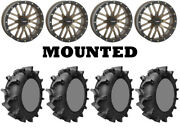 Kit 4 Interco Interforce 628 Tires 35x9.5-18 On System 3 St-3 Bronze Wheels Can