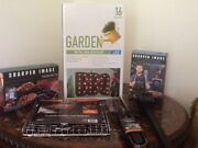 Bbq Grill Package Apron, Sign, Tool Set, Scraper, Grill Basket, Thermometer. New
