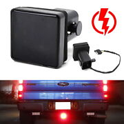 Smoked Lens 15-led Tow Hitch Receiver Strobe Brake Light For Truck Suv 2 Hole