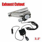 2.5 Electric Exhaust Downpipe Cutout E-cut Out Valve Controller Remote Kit New