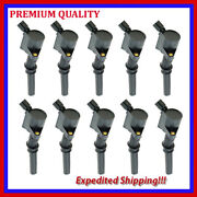 10pc Ignition Coil Ufd267 For Ford F-250 Super Duty 6.8l V10 1999 2000 2001 2002
