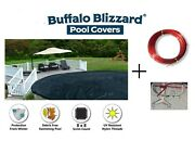 Buffalo Blizzard 21' Round Deluxe Swimming Pool Winter Cover - 10 Year Warranty