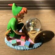 Peter Pan Tinkerbell Disney Snow Globe Discontinued Item Collectible F/s From Jp
