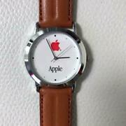 Apple Dial Wrest Watch Novelty Collectible Leather Free Shipping From Japan