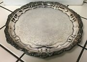 Vintage Epca Bristol Silverplate 12 Footed Serving Platter Tray By Poole 3209