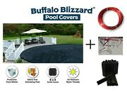 Buffalo Blizzard 21' Round Above Ground Swimming Pool Winter Cover W/ Clips