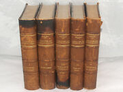 Antique Leather Bound Book Set Greatness And Decline Of Rome By Ferrero