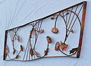 Hand Forged Copper 7 Feet Large Original Jere Style Wall Art Free Pickup