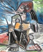 After Picasso's At Work Hand-painted Copy Oil Painting Art
