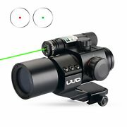 Uuq Tactical 1x30 Green And Red Dot Sight For Rifles And Shotguns W/green Laser