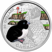 2014 Canada 1 Oz Fine Silver Coin And Stamp Set Baby Animals Puffin