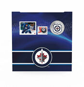 2014 Canada Nhl Coin And Stamp Gift Set - Winnipeg Jets 25 Cent Colorized