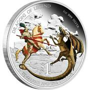 2012 1 Dragons Of Legend.st George And Dragon.1oz Silver Proof Coin Perth Mint