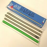 9 Vintage Eberhard Faber Machine Eraser Strips Mixed Lot Of Gray Green And White