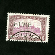 Fiume Stamps 20 Vf Used Signed Catalog Value 3250.00
