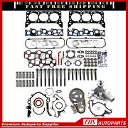 Full Gasket Bolts Lifter Timing Chain Water Pump 98-00 Ford 4.2l F150 E150 E250