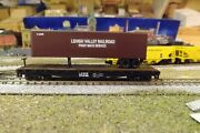 N-scale Custom Painted Lehigh Valley Lv 45and039 Tofc