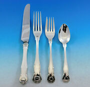 King By Kirk Stieff Sterling Silver Flatware Set Service 48 Pieces Shell Motif