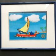 Disney Cel Picture No Sail Donald Duck Certified Free Shipping