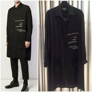 Yohji Yamamoto Pour Homme 19ss Itand039s Only Printed Long Shirt From Japan F/s